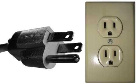 Электрическая вилка - розетка - тип B - NEMA 5-15 (North American 15 A/125 V grounded)