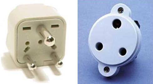 Электрическая вилка - розетка - тип D - BS 546 (5 A/250 V earthed)