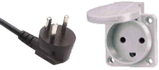 Электрическая вилка - розетка - тип K - Danish 10 A/250 V